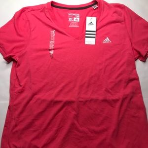 NWT adidas ultimate tee hot pink T-shirt size XL